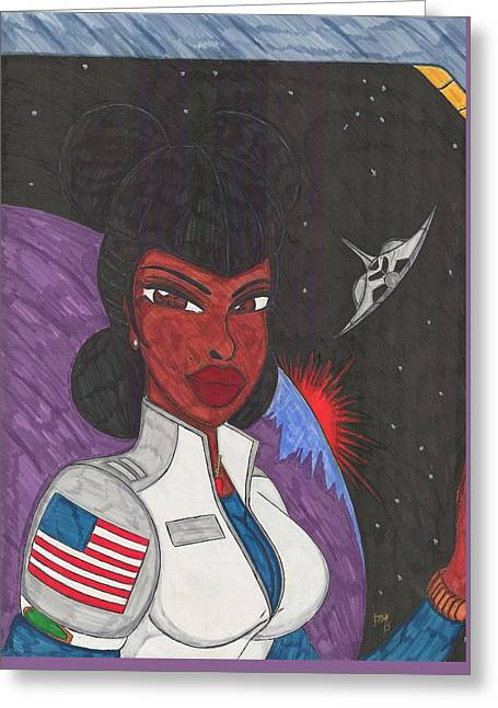 Stellar Queen Greeting Card by Ronald Woods