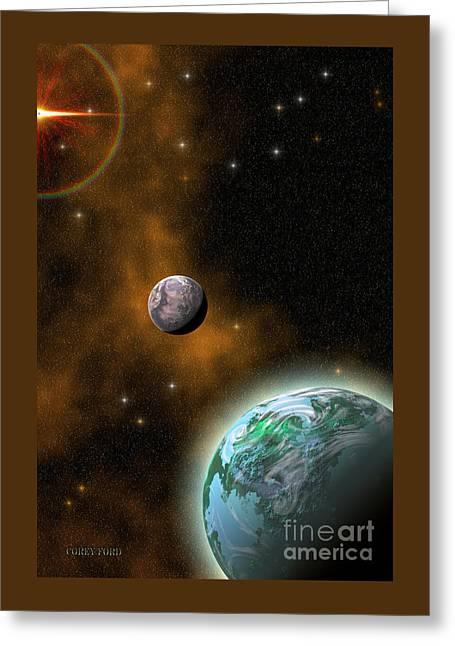 Stellar Smoke Ring Greeting Card by Corey Ford