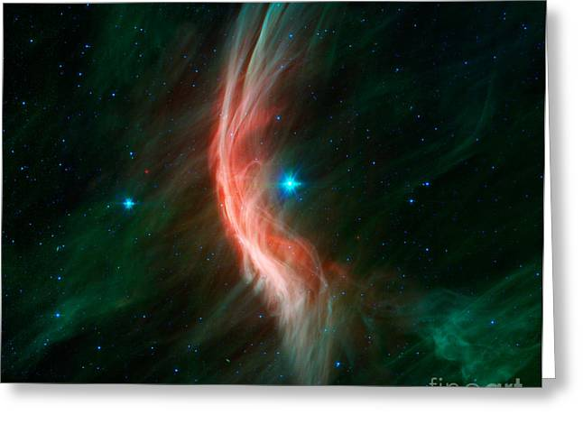 Stellar Winds Flowing Greeting Card by Stocktrek Images