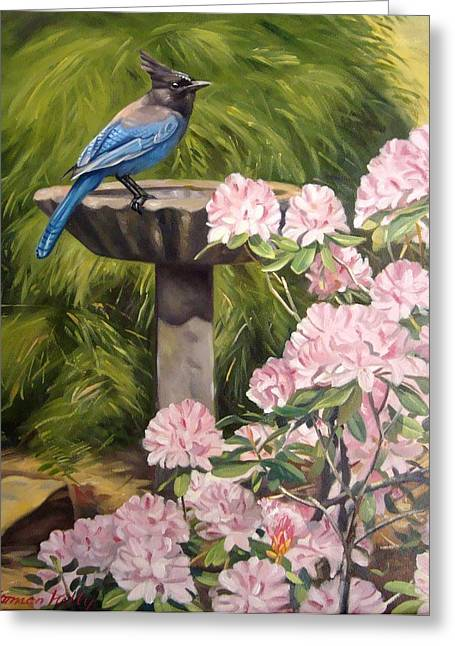Steller Jay Greeting Card by Norman Kelly