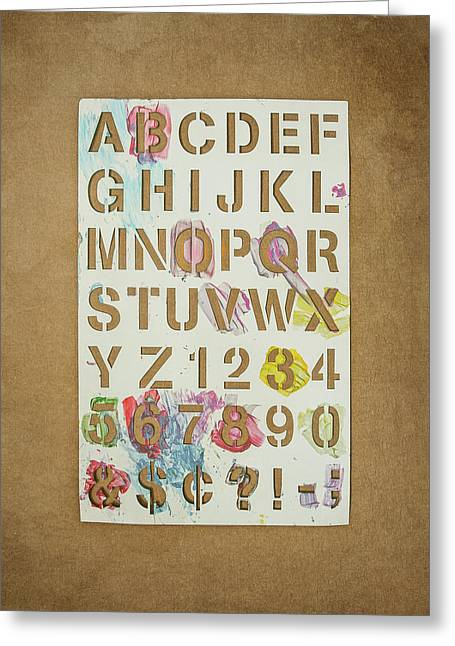 Stencil Alphabet Fun Greeting Card by Scott Norris