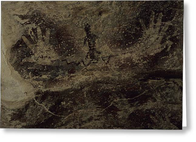 Stenciled Hands Over 10,000 Years-old Greeting Card