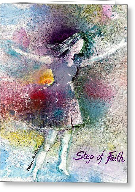 Step Of Faith Greeting Card