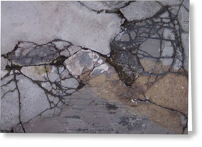 Step On A Crack 2 Greeting Card by Anna Villarreal Garbis