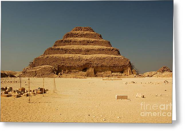 Step Pyramid 2 Greeting Card by Joe  Ng