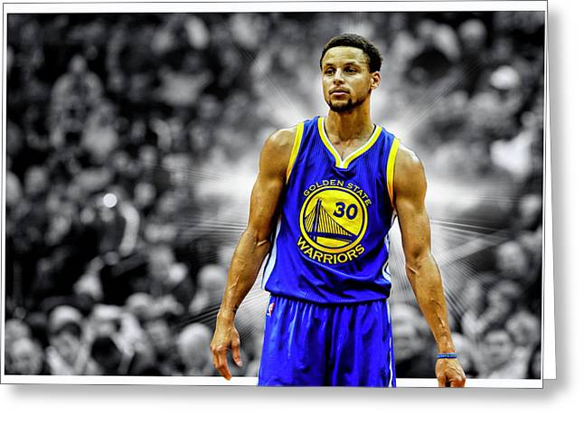 Steph Curry Golden State Warriors Greeting Card by Nicholas Legault