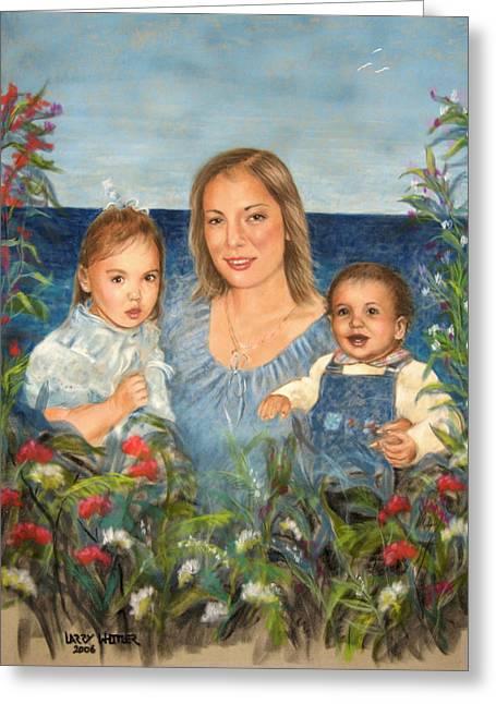 Stephanie With Sarah And Jillian Greeting Card