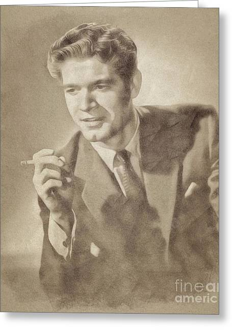Stephen Boyd, Vintage Actor By John Springfield Greeting Card