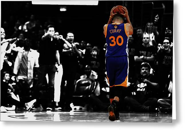 Stephen Curry 4f Greeting Card by Brian Reaves