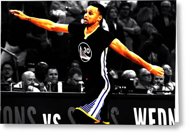 Stephen Curry Scores Again Greeting Card