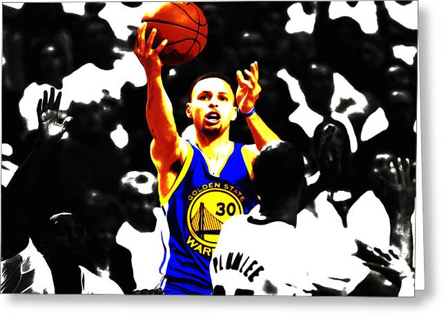 Stephen Curry Smooth As Ice Greeting Card