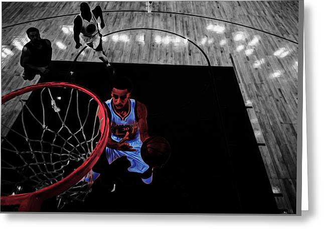 Stephen Curry Taking Flight Greeting Card
