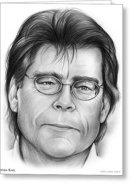 Stephen King Greeting Card by Greg Joens