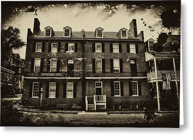 Stephenson's Hotel - Harpers Ferry Greeting Card by Bill Cannon