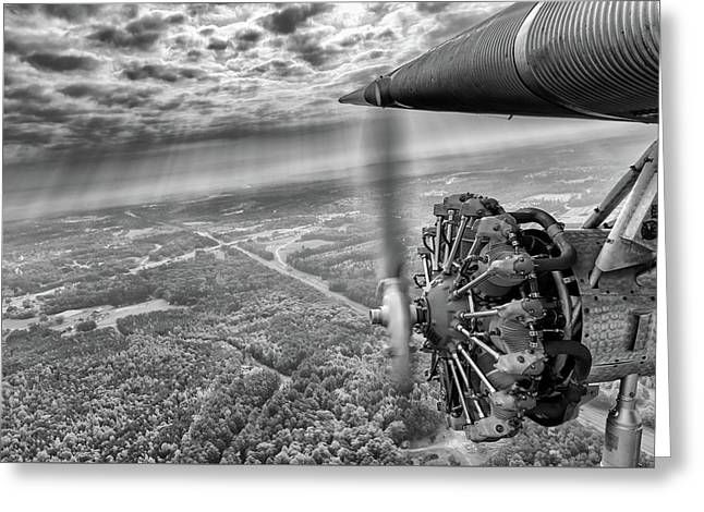 Stepping Back In Time - 2017 Christopher Buff, Www.aviationbuff.com Greeting Card by Chris Buff