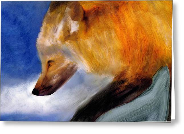 Greeting Card featuring the painting Stepping Lightly by FeatherStone Studio Julie A Miller