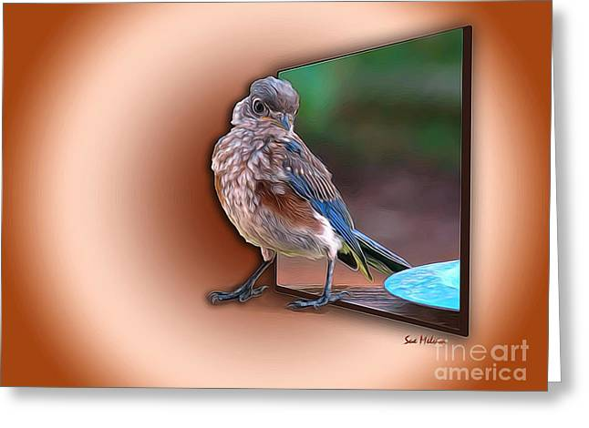 Stepping Out Into The Spotlight Greeting Card by Sue Melvin