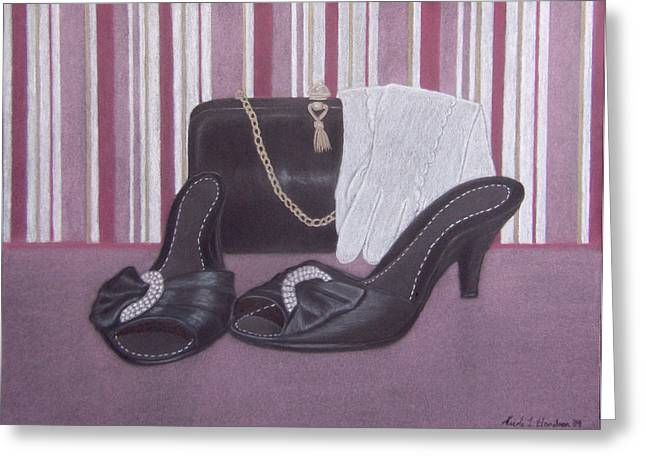 Stepping Out Greeting Card by Nicole I Hamilton