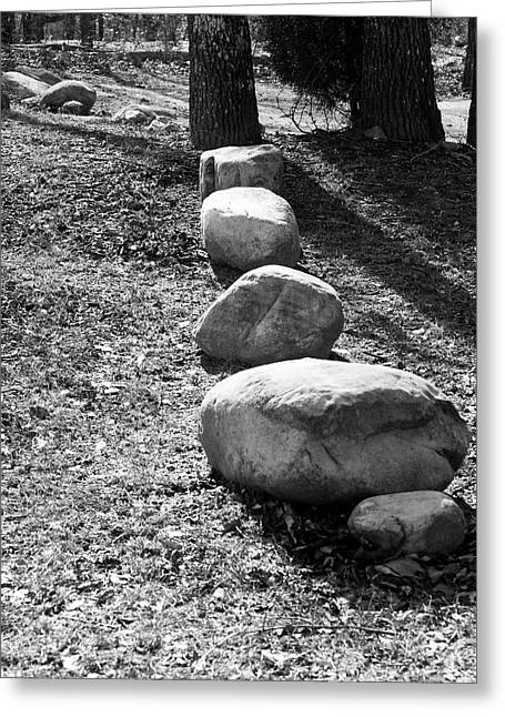 Stepping Stones Greeting Card by Gwen Vann-Horn
