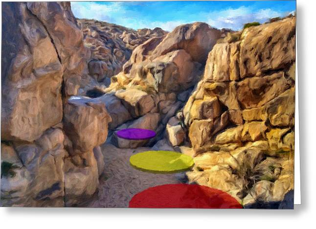Stepping Stones Greeting Card by Snake Jagger