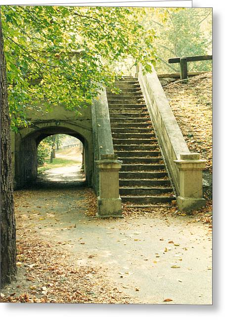 Steps And Tunnel Greeting Card