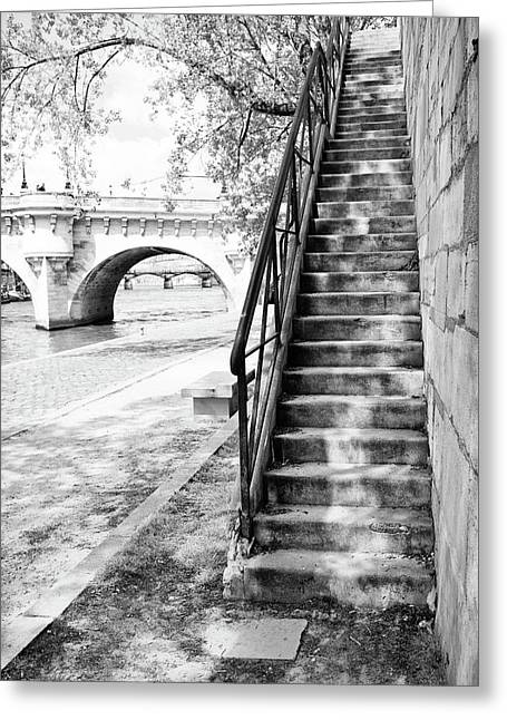 Steps By Pont Neuf, Paris Greeting Card