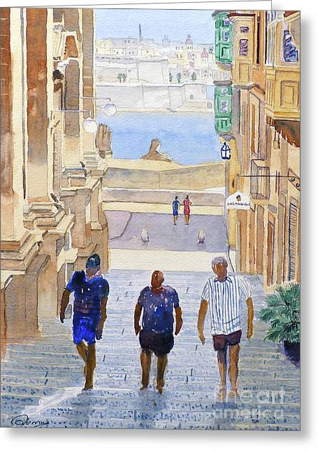 Steps Greeting Card by Godwin Cassar