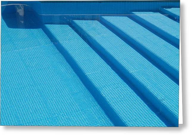 Greeting Card featuring the photograph Steps In The Pool by Michael Canning