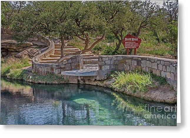 Greeting Card featuring the photograph Steps Leading To The Blue Hole by Sue Smith