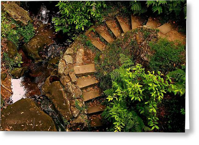 Steps Leading Up The Stairway To Heaven Greeting Card