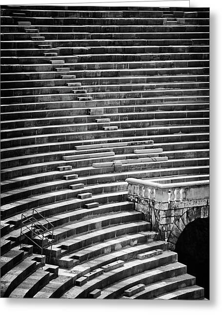 Steps Of Verona Arena  Greeting Card by Carol Japp