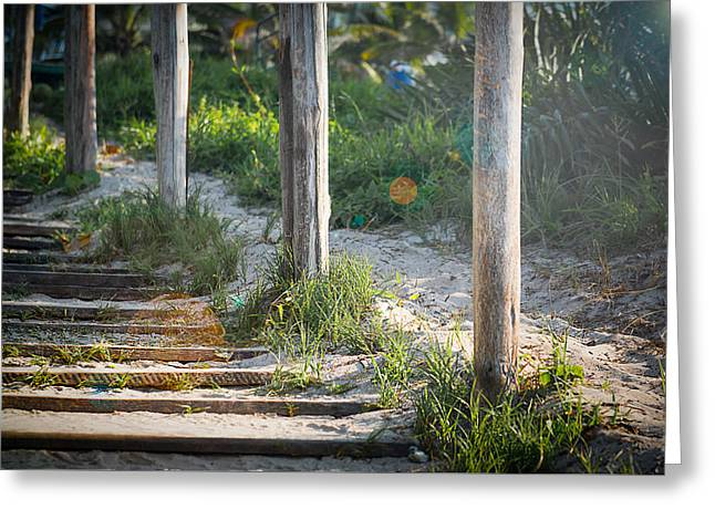 Steps Off The Beach Greeting Card