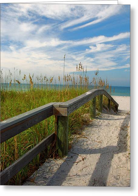 Steps To Paradise Greeting Card by John Rush