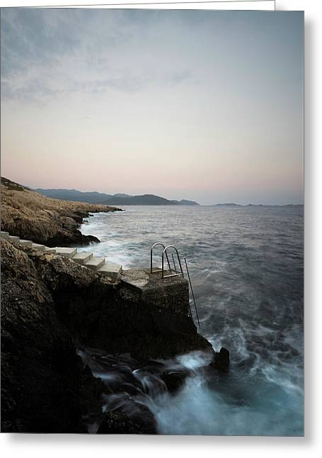 Steps To Sea  Greeting Card by Michael Robbins