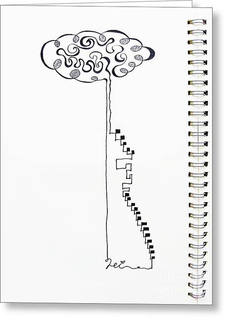 Steps To The Clouds Greeting Card