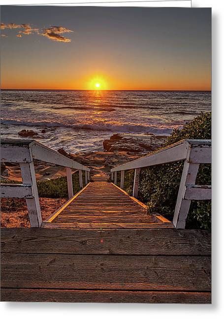 Steps To The Sun  Greeting Card