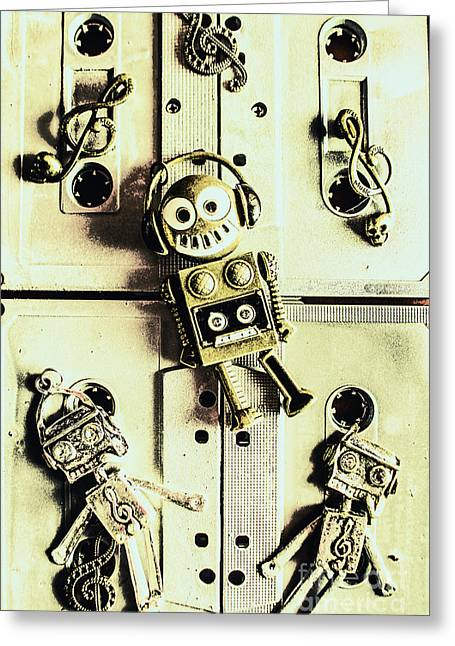 Stereo Robotics Art Greeting Card by Jorgo Photography - Wall Art Gallery