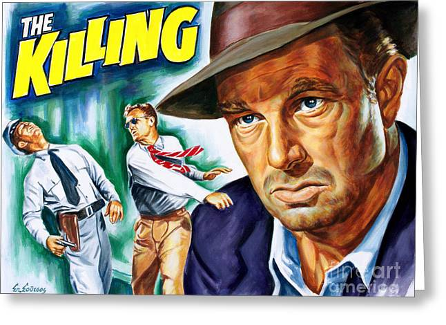 Sterling Hayden - The Killing 1956 - Stanley Kubrick Greeting Card by Spiros Soutsos
