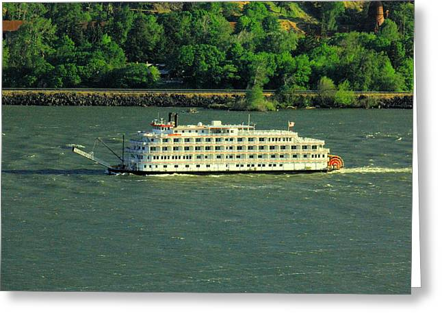 Stern Wheeler On The Columbia River  Greeting Card