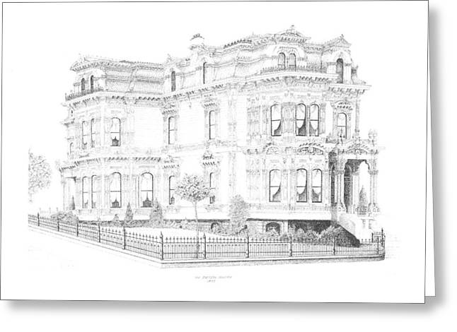 Stetson Mansion Greeting Card by Edward Williams