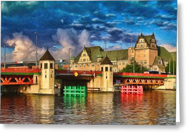 Stettin Bridge - Pol890431 Greeting Card