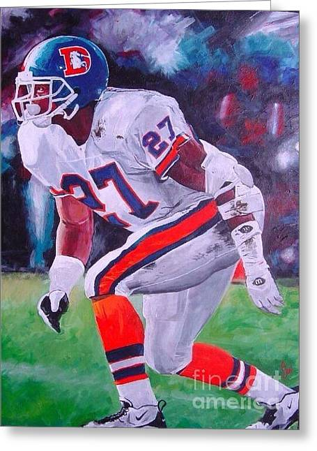 Steve Atwater #1 Greeting Card by Ian Jackson