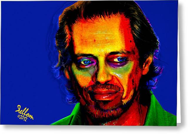 Steve Buscemi Pop Art Greeting Card by Che Moller