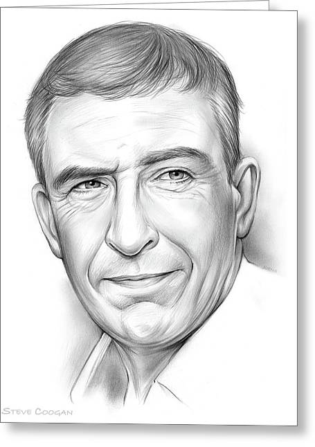 Steve Coogan Greeting Card by Greg Joens