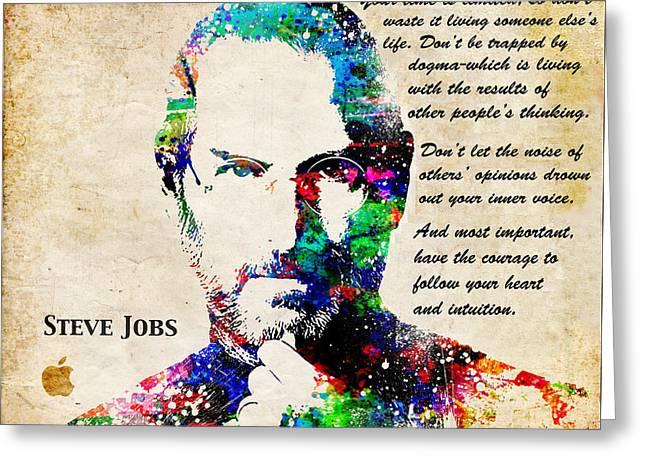 Steve Jobs Portrait Greeting Card