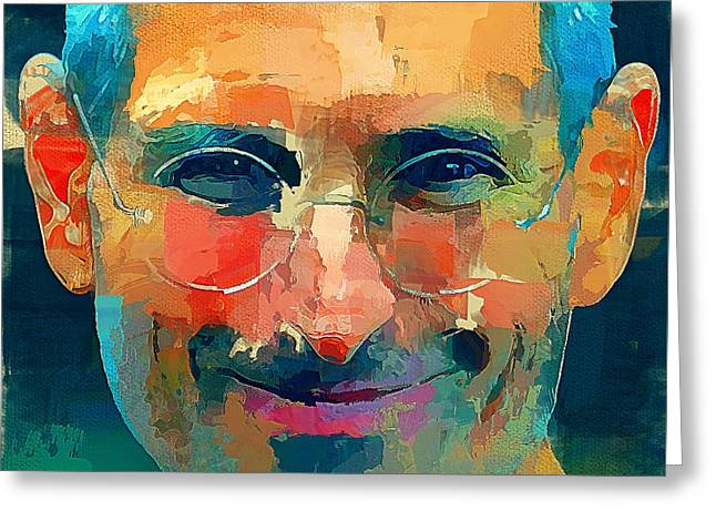 Steve Jobs The Legend Greeting Card