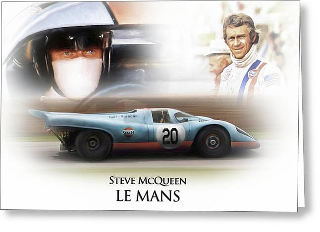 Steve Mcqueen Le Mans Greeting Card by Peter Chilelli