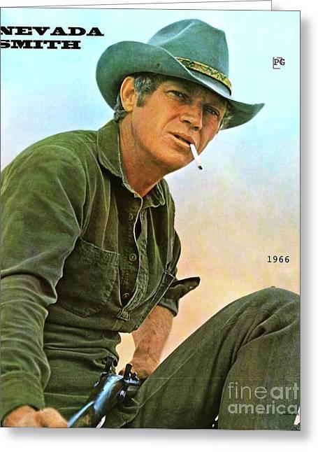 Steve Mcqueen, Nevada Smith Greeting Card