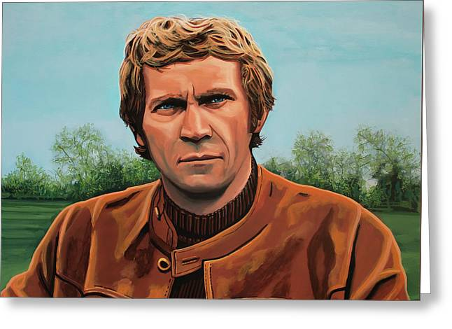 Steve Mcqueen Painting Greeting Card by Paul Meijering