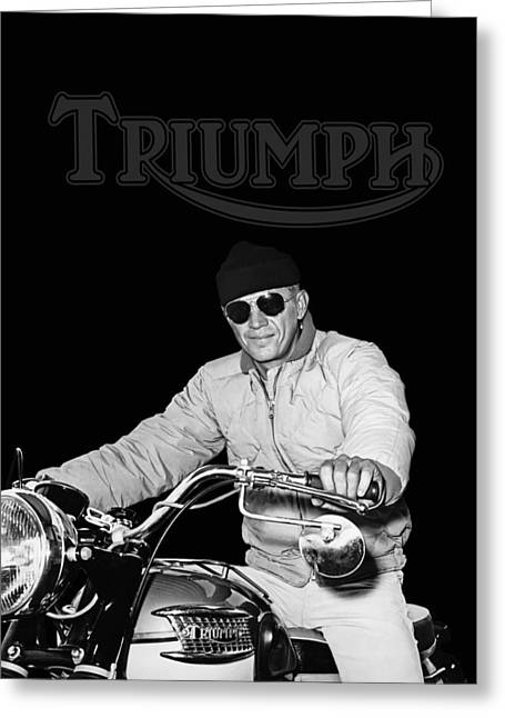 Steve Mcqueen Triumph Greeting Card